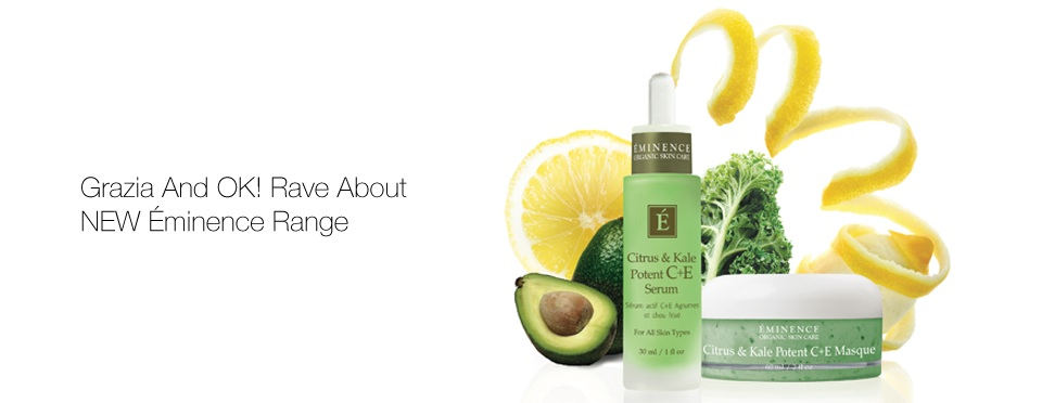 Éminence Organic Skincare's NEW Citrus & Kale Potent C+E Serum A Hit With The Press